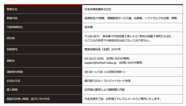 日本投資機構株式会社の会社概要